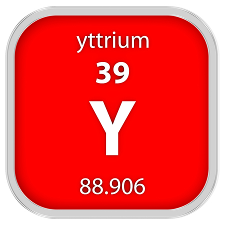 affinity: Yttrium material on the periodic table. Part of a series.