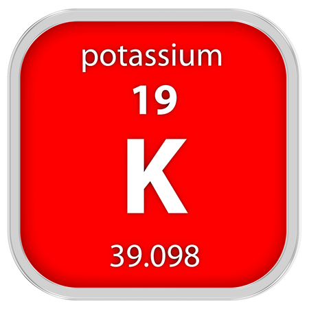 affinity: Potassium material on the periodic table