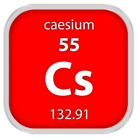 Caesium material on the periodic table photo