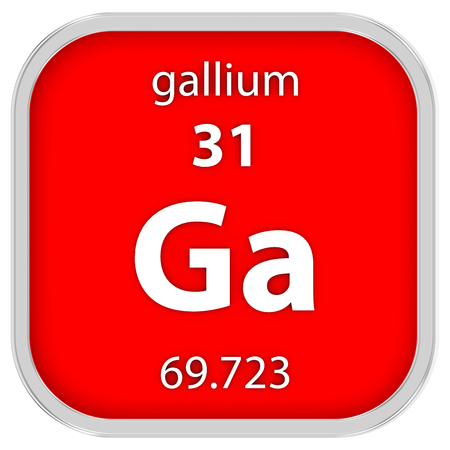 Gallium Material On The Periodic Table Stock Photo Picture And