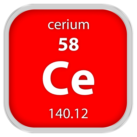 affinity: Cerium material on the periodic table. Part of a series.