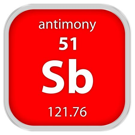 antimony: Antimony material on the periodic table