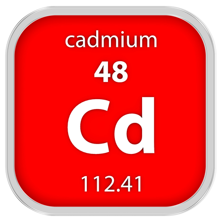 affinity: Cadmium material on the periodic table Stock Photo