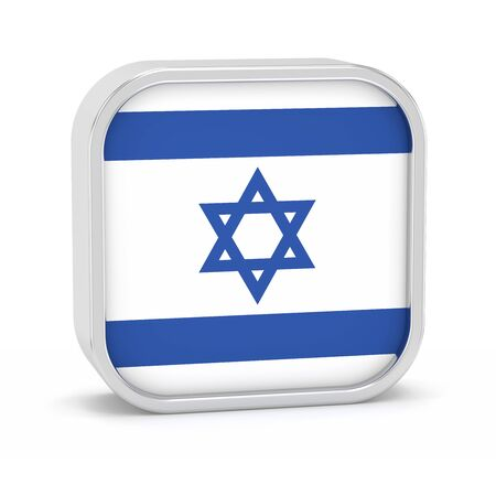 ramat aviv: Israel flag sign on a white background. Part of a series.