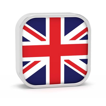United Kingdom flag sign on a white background. Part of a series. Stock Photo