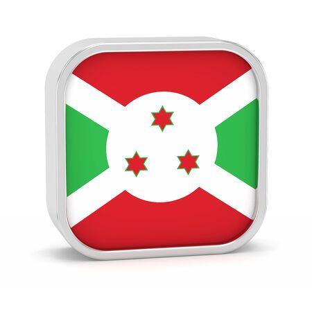 burundi: Burundi flag sign on a white background. Part of a series.