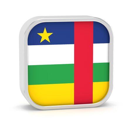 Zentralafrikanische Republik Flagge Schild auf einem weißen Hintergrund. Teil einer Reihe. Standard-Bild - 45966178