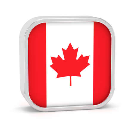 hymn: Canada flag sign on a white background. Part of a series. Stock Photo
