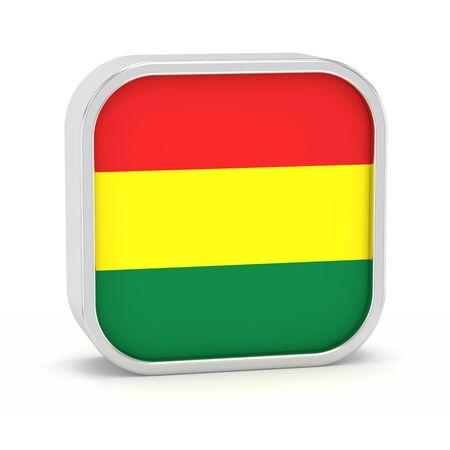 Bolivien Flagge Schild auf einem weißen Hintergrund. Teil einer Reihe. Standard-Bild - 45965861
