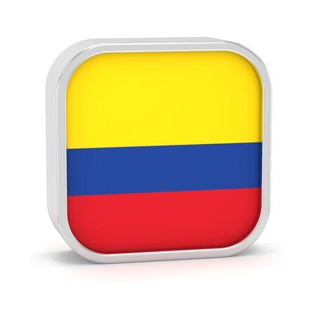 Kolumbien-Flagge Zeichen auf einem weißen Hintergrund. Teil einer Reihe. Standard-Bild - 45965872