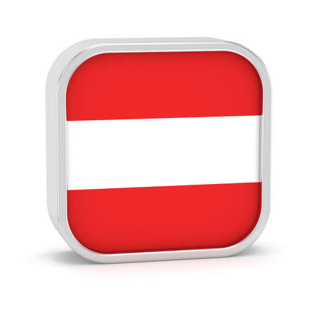 linz: Austria flag sign on a white background. Part of a series. Stock Photo