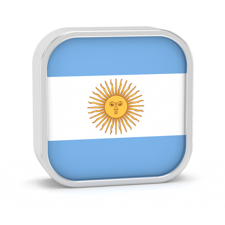 corrientes: Argentina flag sign on a white background. Part of a series.