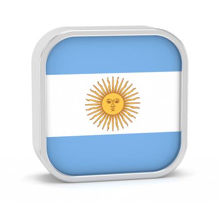 Argentinien-Flagge Zeichen auf einem weißen Hintergrund. Teil einer Reihe. Standard-Bild - 45965913