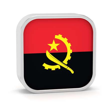 Angola Flag-Zeichen auf einem weißen Hintergrund. Teil einer Reihe. Standard-Bild - 45965925