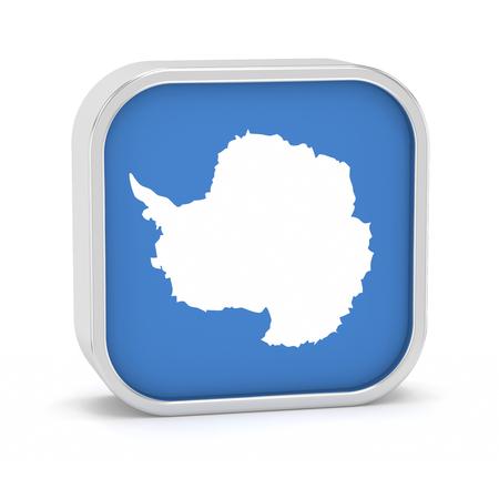 Die Antarktis-Flaggenschild auf einem weißen Hintergrund. Teil einer Reihe. Standard-Bild - 45965919