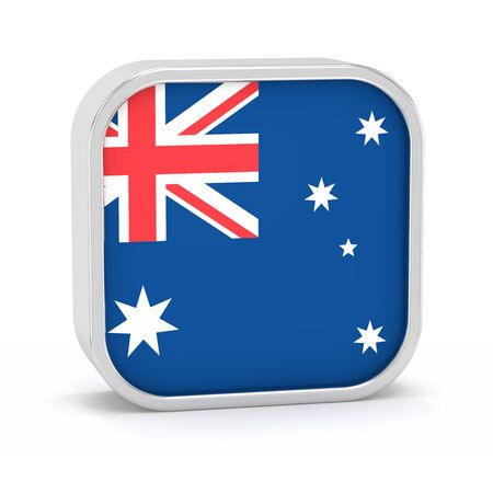 Australia flag sign on a white background. Part of a series.