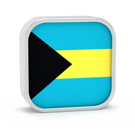 Bahamas Flagge Zeichen auf einem weißen Hintergrund. Teil einer Reihe. Standard-Bild - 45965542