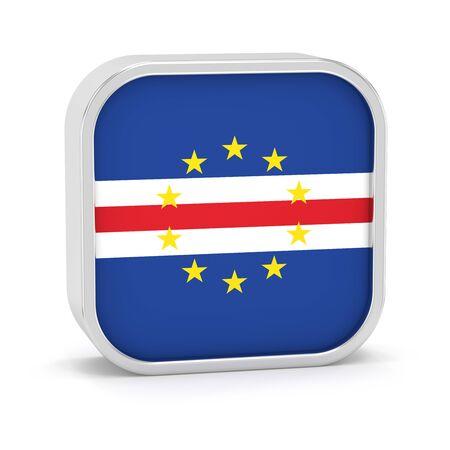 Cape Verde Flag-Zeichen auf einem weißen Hintergrund. Teil einer Reihe. Standard-Bild - 45965555