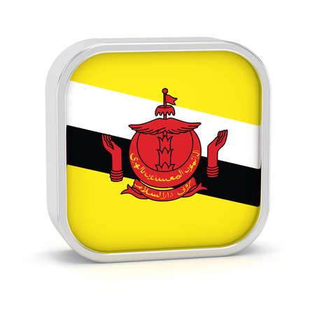 Brunei Flag-Zeichen auf einem weißen Hintergrund. Teil einer Reihe. Standard-Bild - 45965545