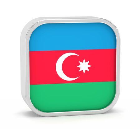 Aserbaidschan Flagge Zeichen auf einem weißen Hintergrund. Teil einer Reihe. Standard-Bild - 45965562