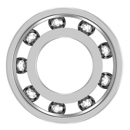 Kugellager auf einem weißen Hintergrund. Mechanische Komponente. Teil einer Reihe. Standard-Bild - 52074344