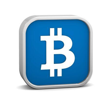 Bitcoin auf einem weißen Hintergrund zu unterzeichnen. Teil einer Reihe. Standard-Bild - 73464326