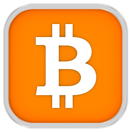 Bitcoin sign on a white background. Part of a series.