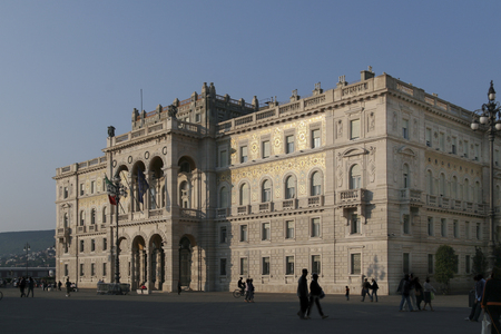governmental: Governmental palace on the main square of Triest, Italy