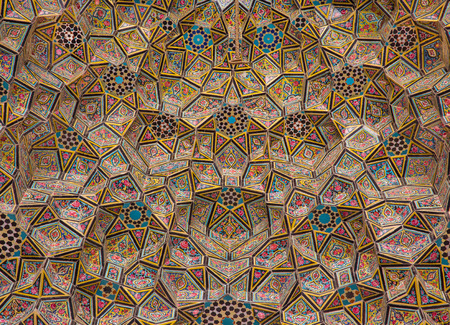 Nasir Al Mulk Mosque in Shiraz in Iran. It is named as Pink Mosque in popular culture to the usage of beautiful pink colored tiles for its interior design.