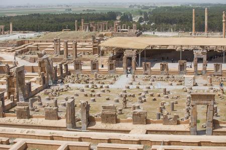 Persepolis the ceremonial capital of the Achaemenid Empire in Iran Фото со стока
