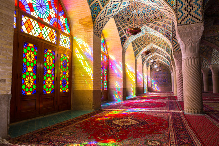 islamic: Nasir al-Mulk Mosque in Shiraz, Iran