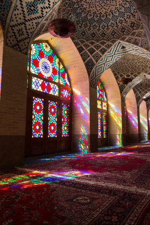shiraz: Nasir al-Mulk Mosque in Shiraz, Iran