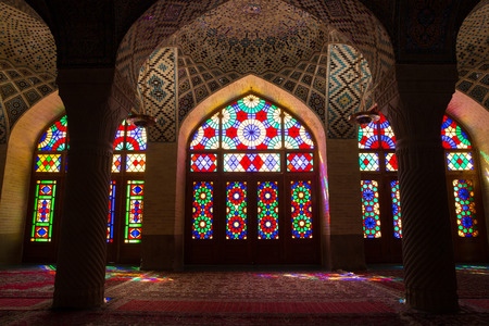 AlMulk Nasir Mosque in Shiraz Iran