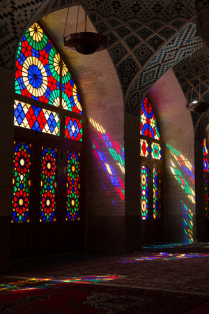 shiraz: AlMulk Nasir Mosque in Shiraz Iran
