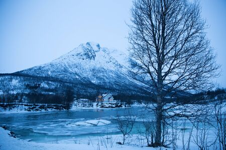 seaa: Norway in winter trip near Tromso Stock Photo