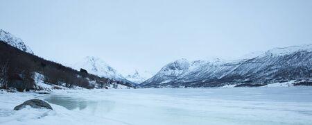 Norway in winter trip near Tromso Stock Photo