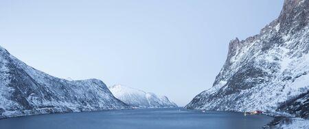 Norway in winter trip to the island Senja near Tromso Stock Photo