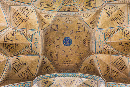 isfahan: Mosaic of the Jameh Mosque of Isfahan, Iran. This mosque is UNESCO World Heritage site