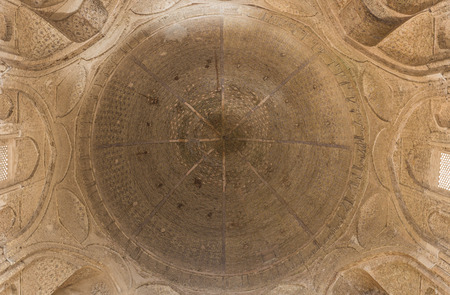 isfahan: Dome of the Jameh Mosque of Isfahan, Iran. This mosque is UNESCO World Heritage site Editorial