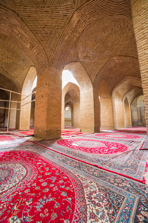 isfahan: Interior passage of the Jameh Mosque of Isfahan, Iran. This mosque is UNESCO World Heritage site Editorial