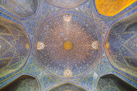 Madrasa-ye-Chahar Bagh, in Isfahan, Iran.  Theological college built between 1704 and 1714.