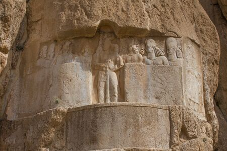 fars: Naqsh-e Rostam, ancient necropolis located about 12 km northwest of Persepolis, in Fars Province, Iran. Editorial