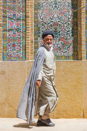 imam: SHIRAZ, IRAN - APRIL 26, 2015: religious unidentified man in Shiraz, Iran