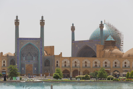 imam: Imam Mosque (Masjed-e Imam) at Naghsh-e Jahan Square in Isfahan, Iran. Imam mosque is known as Shah Mosque. Its construction finished in 1629.