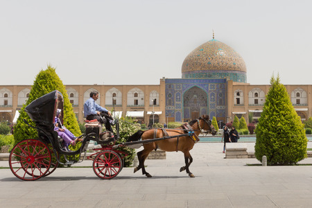 iran: Sheikh Lotfollah Mosque at Naqsh-e Jahan Square in Isfahan, Iran. Construction of the mosque started in 1603 and was finished in 1619.