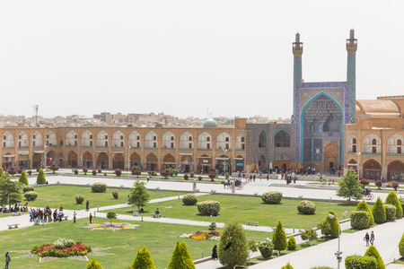 safavid: Imam Mosque (Masjed-e Imam) at Naghsh-e Jahan Square in Isfahan, Iran. Imam mosque is known as Shah Mosque. Its construction finished in 1629.