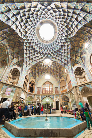 interior spaces: Timcheh-e Amin o Dowleh, Kashan Bazaar (19th century), in Iran. Persian architects used these structures to naturally decrease temperatures, regulate sunlight, and ventilate the interior spaces during the daytime.