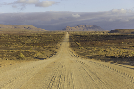 The C12, scenic dirt road in the desert leading to the Fish River Canyon, Namibia