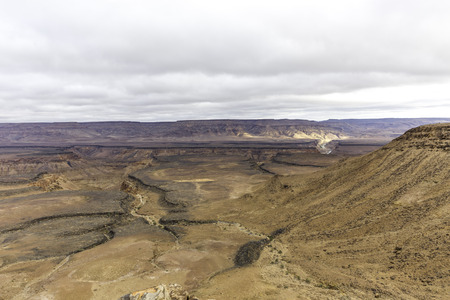 The view of the Fish River Canyon in namibia Stock Photo