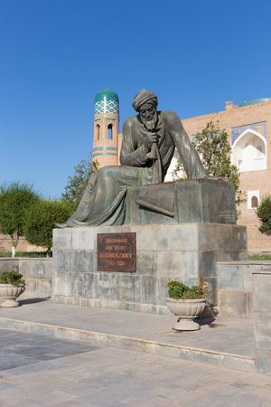 astronomer: Statue of the great mathematician, astronomer and geographer Muhammad ibn Muso al-Khorazmiy, in Khiva, Uzbekistan